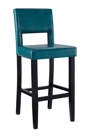 Amazon Com Linon Vega Bar Stool Aegean Blue Kitchen