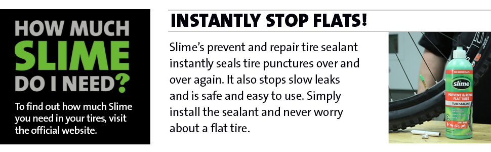 flat tire, slime, sealant, bicycle tire, bike tire, bicycle flat tire