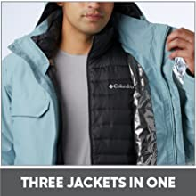 Three Jackets in one