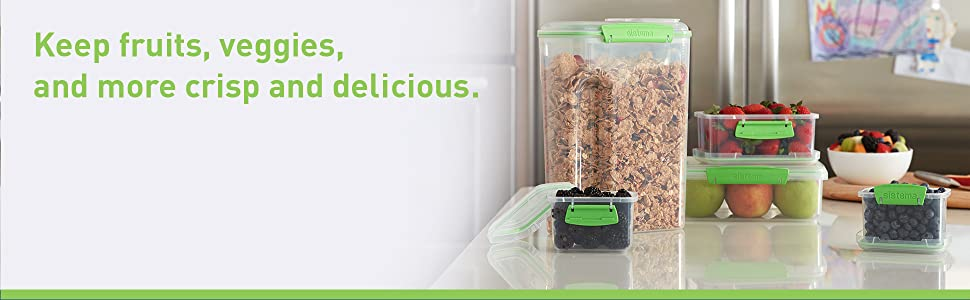 Sistema Fresh Keep fruits, veggies, and more crisp and delicious.