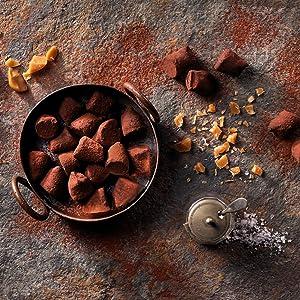 butterscotch sea salt cocoa dusted truffles monty bojangles chocolate box luxury gift delicious