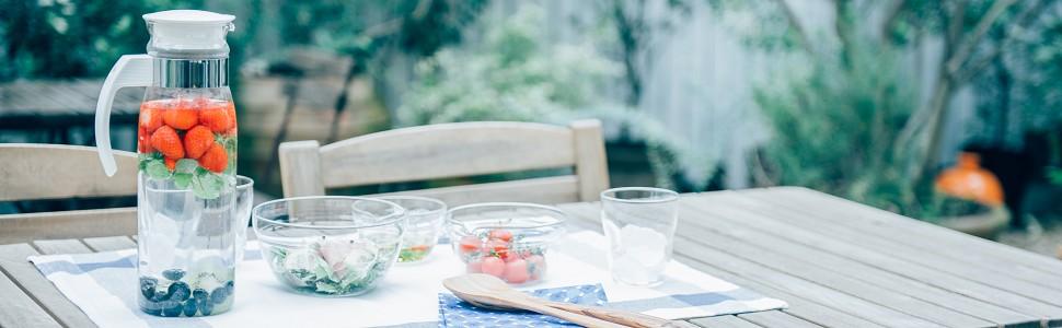 RPLN-14 冷蔵庫ポット スリムN 4977642031173 ウォータージャグ HARIO ハリオ 耐熱ガラス ガラス 水出し 紅茶 お茶 おしゃれ カワイイ 1400ml 大容量