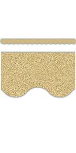 Gold Scalloped Glitz Border Trim