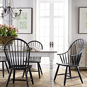 Amazon Com Ethan Allen Gilbert Side Chair Charcoal Chairs