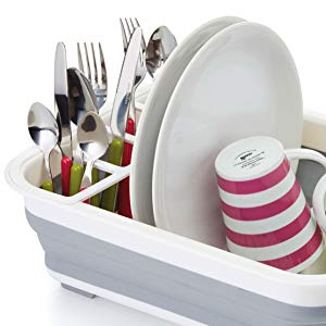 37,5/x 29,5/cm Kitchen Craft/-/Escurridor Plegable de pl/ástico para Platos