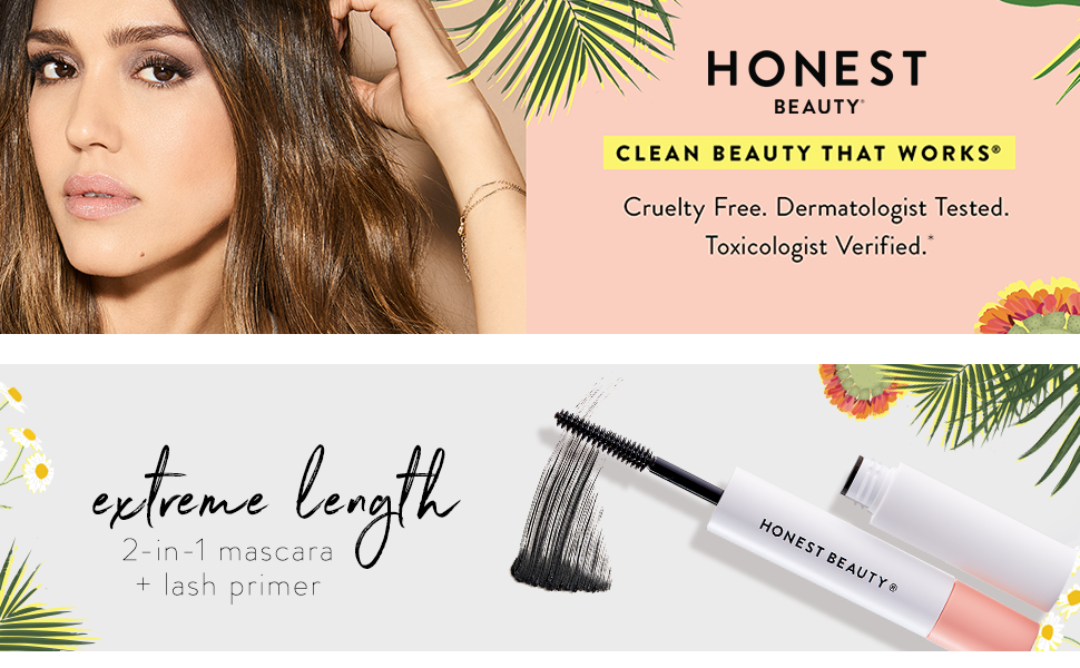 Honest Co natural ingredients organic beauty make up mascara glow full lash blush lipstick longer