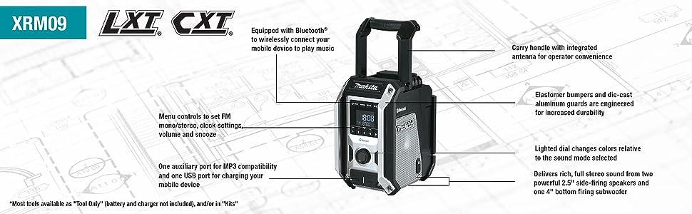 xrm09 radio jobiste music plays sound speakers callouts points features volumne handle transport