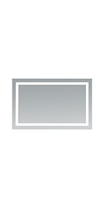 Jovian LED Lighted Mirror, 43-Inch by 28-Inch