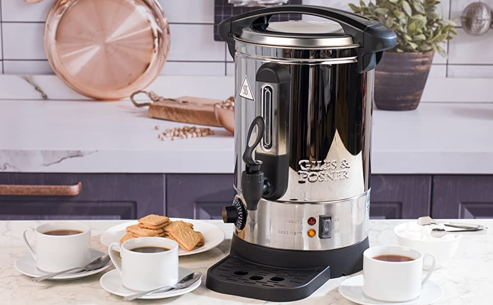 Giles Posner Ek2907 Electric Water Dispenser Urn 1500 W 7l Adjustable Thermostat Ideal For Tea Coffee Sangria Pimms More Amazon Co Uk Kitchen Home
