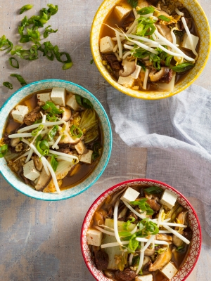 BEEF, CABBAGE, AND TOFU SOUP WITH GOCHUGARU