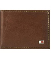 RFID passcase mens leather wallet