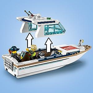 LEGO Baukästen & Sets Baukästen & Konstruktion Lego 60221 City Tauchyacht