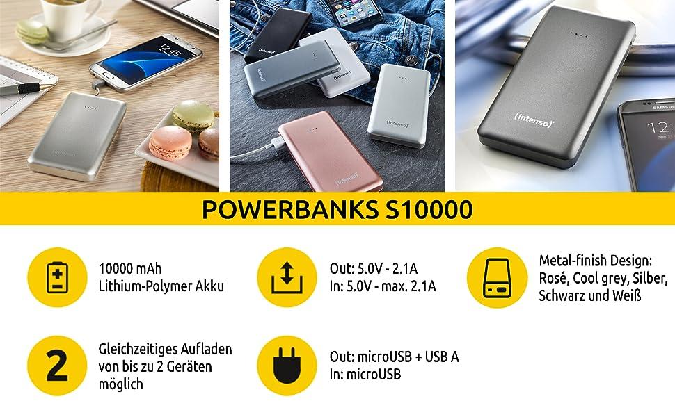 Intenso Powerbank 7332530 Slim Externes Ladegerät Elektronik