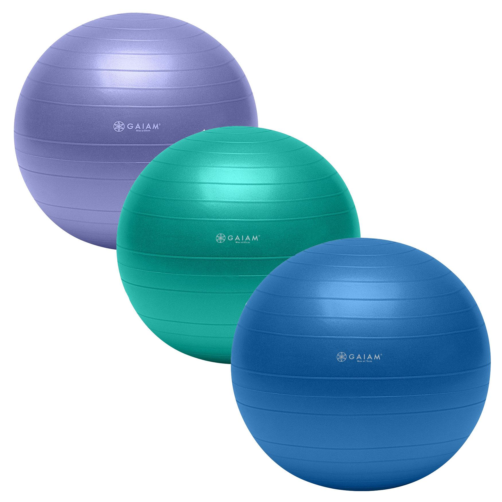Amazon Gaiam Total Body Balance Ball Kit Includes 75cm