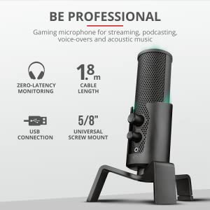 Trust Gxt 256 Exxo Usb Gaming Microphone Computers Accessories