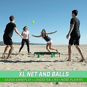 gosports slammo jumbo roundnet net ball game set spike ball rookie volleyball gym class game kid fun