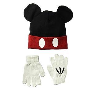 Disney - Juego de Guantes de Punto de Mickey para niño con Gorro de ... 5c02fd071eb