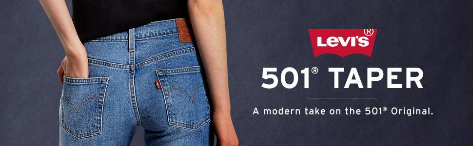 Levis Womens 501 Taper Jeans 31 X 30l Culture Shock Non Stretch