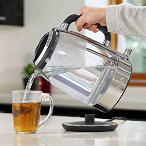 style, performance, kettle, jug, easy, glass, crystal, energy saving, efficient, fast boil, features