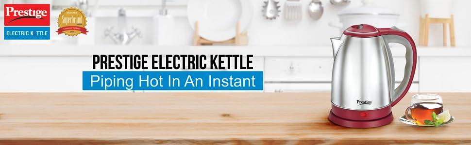 Prestige 1.2 Litre Kettle 1200-watts, Maroon