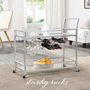 sturdy bar cart