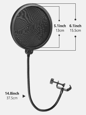 Neewer Nw B 3 Pop Filter 6 Inch Studio Microphone Round Shape Mic