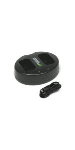 Wasabi Power Dual USB Charger for Canon LP-E12