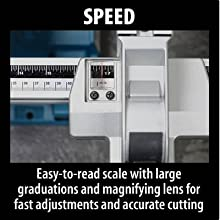 speed east to read scale large graduations magnifying lens fast adjustment accurate cuts