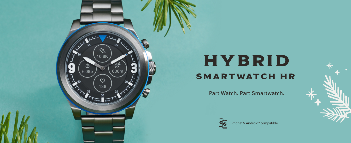Fossil Hybrid smartwatch, Hybrid HR, gifts for men, gifts for women