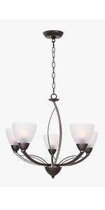 Contemporary 5-Light Chandeliers