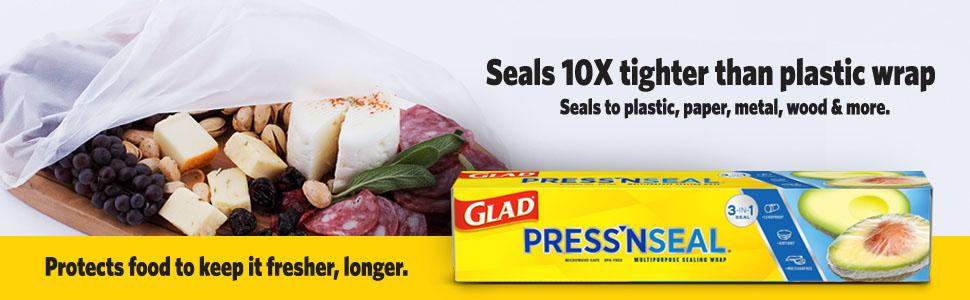 glad press'n seal;glad plastic wrap;food protection;airtight;leak-proof;bpa-free;food wrap;best