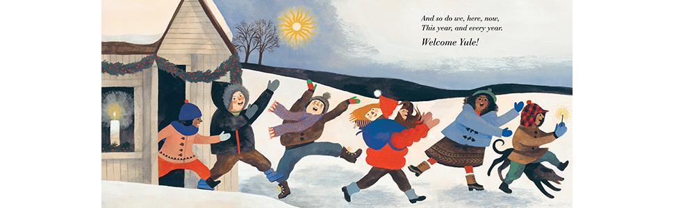 winter; winter book; picture book; yule; yuletide; celebrations; holidays; seasons; changing seasons