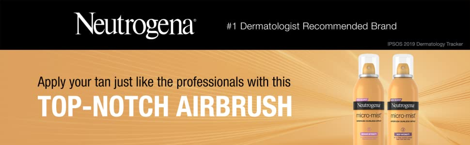 Apply tan like the professionals with Neutrogena Micro Mist Airbrush Sunless Self Tanning Spray