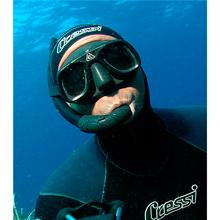 Unisex Talla /Única Negro Cressi Tauchmaske Superocchio Gafas de Buceo
