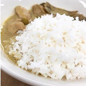 ジャスミンライスのアップ タイ米 レンジごはん 簡単 簡便 タイカレー 簡単 香り米 タイ料理