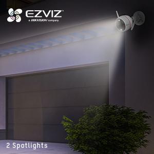 spotlights, outdoor lighting, outdoor camera with lights, wireless camera with lights