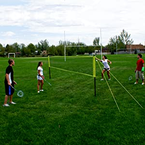 outdoor, portable, grass, net, systems, pickleball, tennis, badminton, equipment, portable