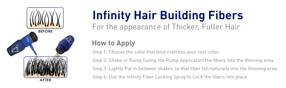 Infinity Hair Fiber - Hair Loss Concealer - Hair Thickening Fiber for Men & Women - Dark Brown, 30g