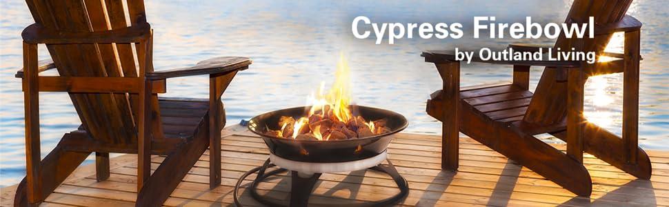 Outland Firebowl 863 Cypress Outdoor Portable Propane Gas ... on Outland Firebowl 21 Inch id=74466