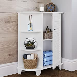cabinet with shelves white