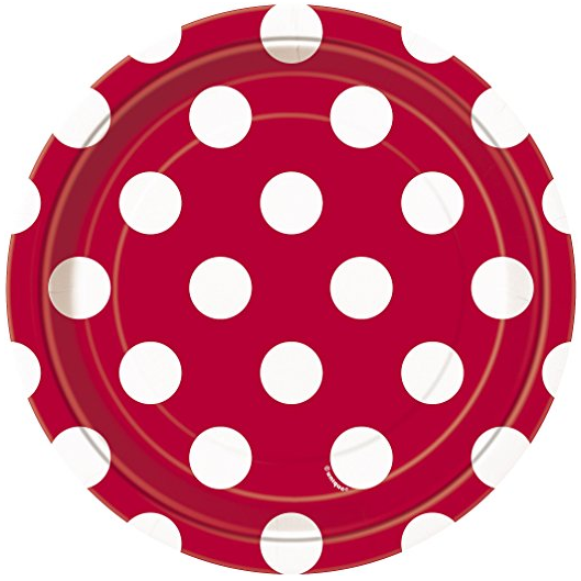 Deluxe Red Polka Dot Party Supplies Kit for 8 · Red Polka Dot Party Supplies Kit for 8 · Red Polka Dot Paper Plates 8ct · Red Polka Dot Paper Cake Plates ...  sc 1 st  Amazon.com & Amazon.com: Red Polka Dot Paper Cake Plates 8ct: Kitchen u0026 Dining
