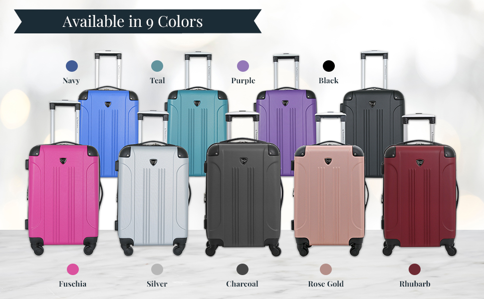 travelers club, carry-on, luggage, lightweight, 360 spinners, mobility, fashion, expandable, colors