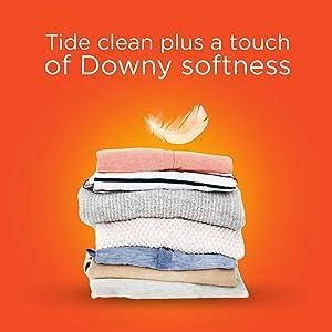 Tide clean plus Downy softness