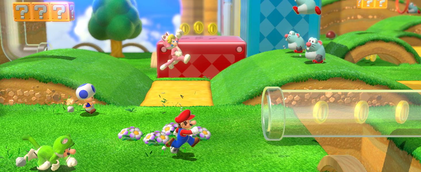 Mario and Princess Peach collecting coins!