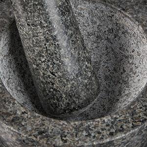 120 ML Herbes pour /épices Gris Robuste 10 cm mortier en Pierre polie d Relaxdays 10029949 Granit avec Pilon