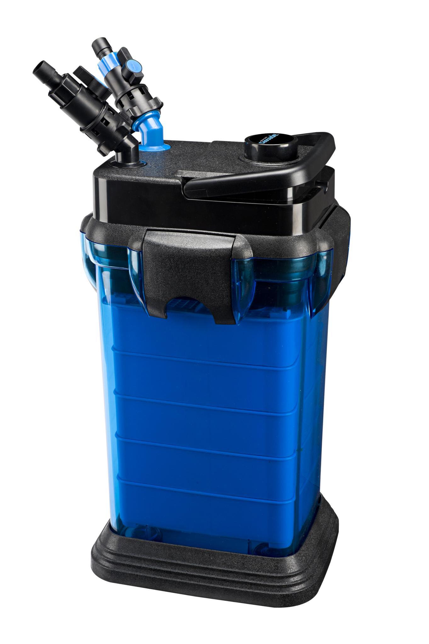 Penn plax cascade 1500 350gph canister for Filtration aquarium