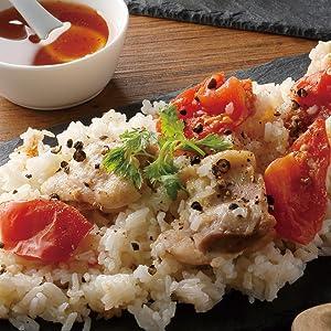 鶏とトマトのカオマンガイ