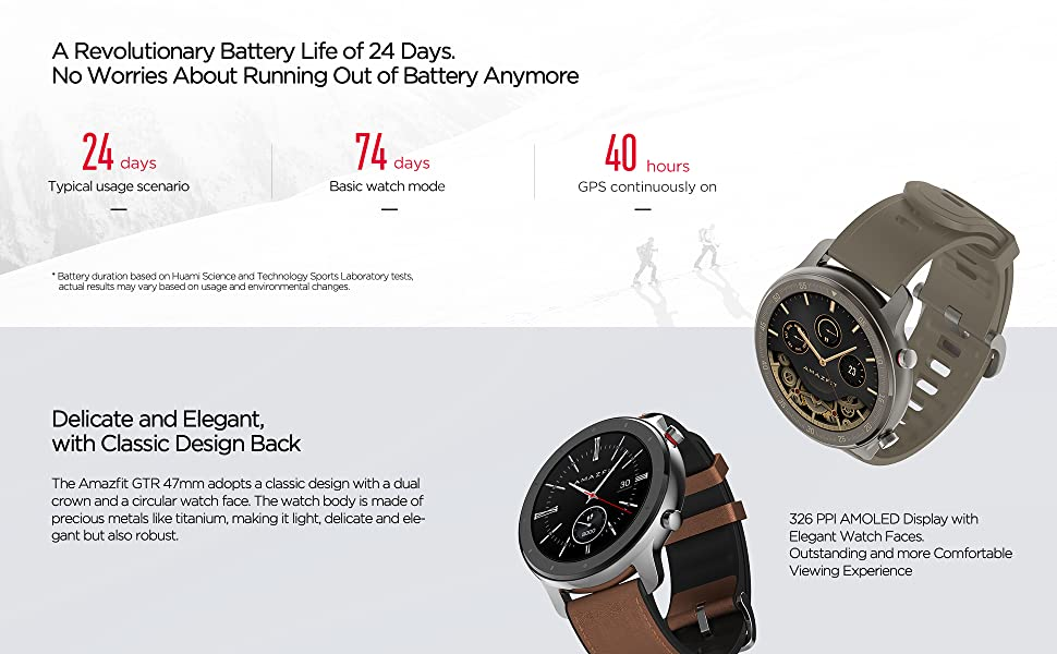 24 Days Battery Life Smart Watch