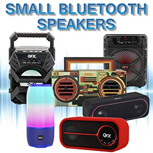 QFX Bluetooth Streaming Speaker Speakers Battery Powered Wireless Portable