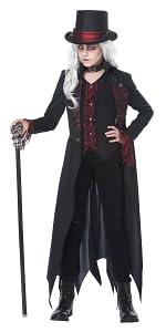Girl's Costume, Vampire, Vampiress, Dracula, Girl's Scary Costume, Blood, Gothic, Count, Countess